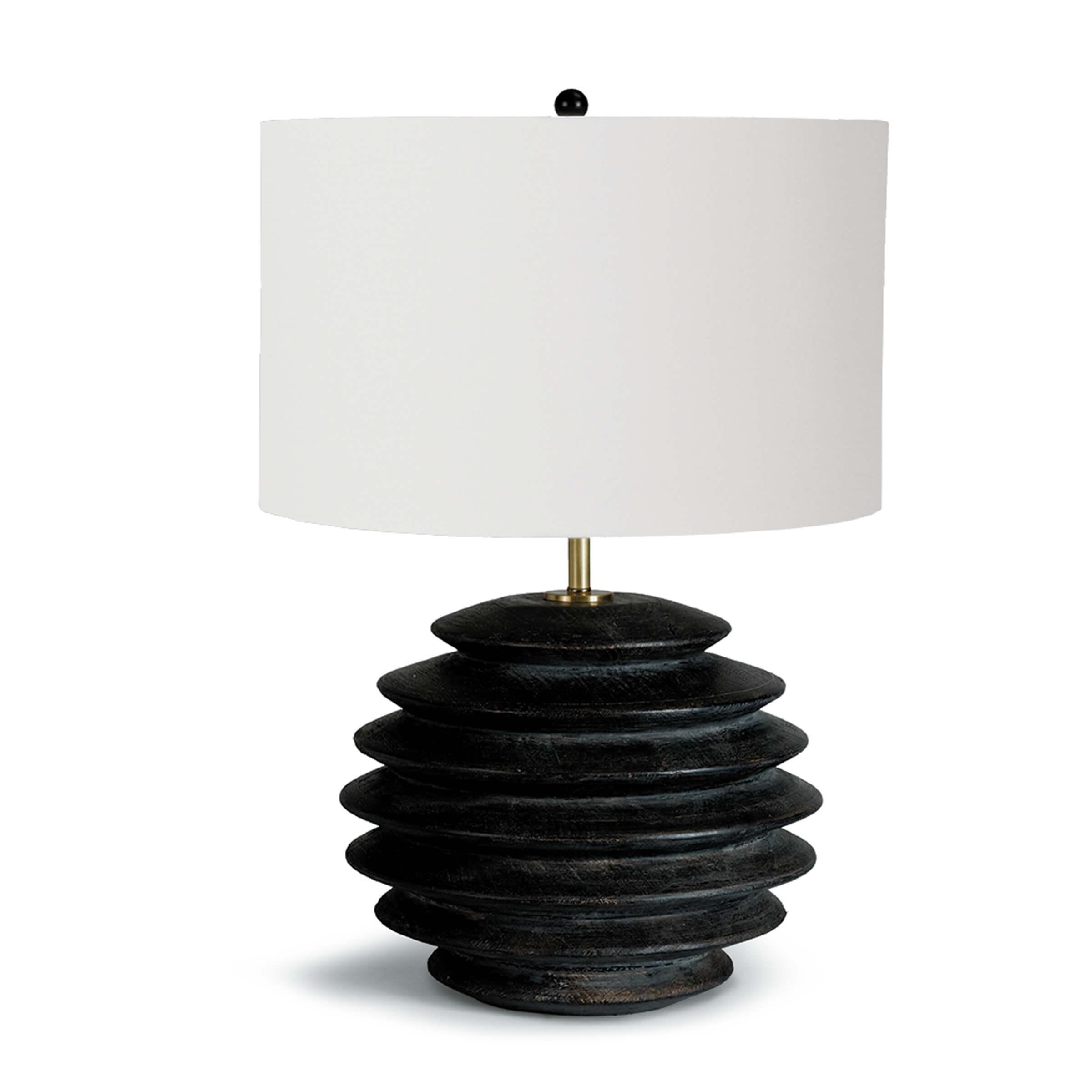 Accordion Table Lamp Round Ebony | Regina Andrew