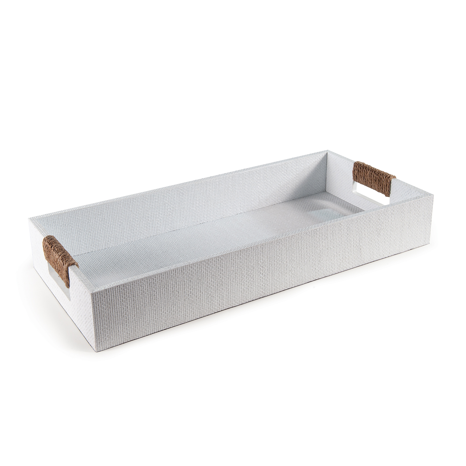 Logia Rectangle Tray Small White | Regina Andrew