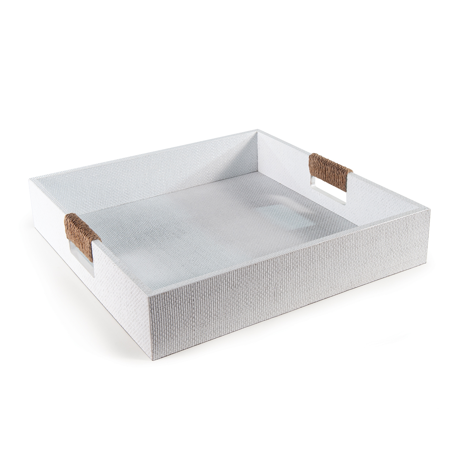 Logia Square Tray Large White | Regina Andrew