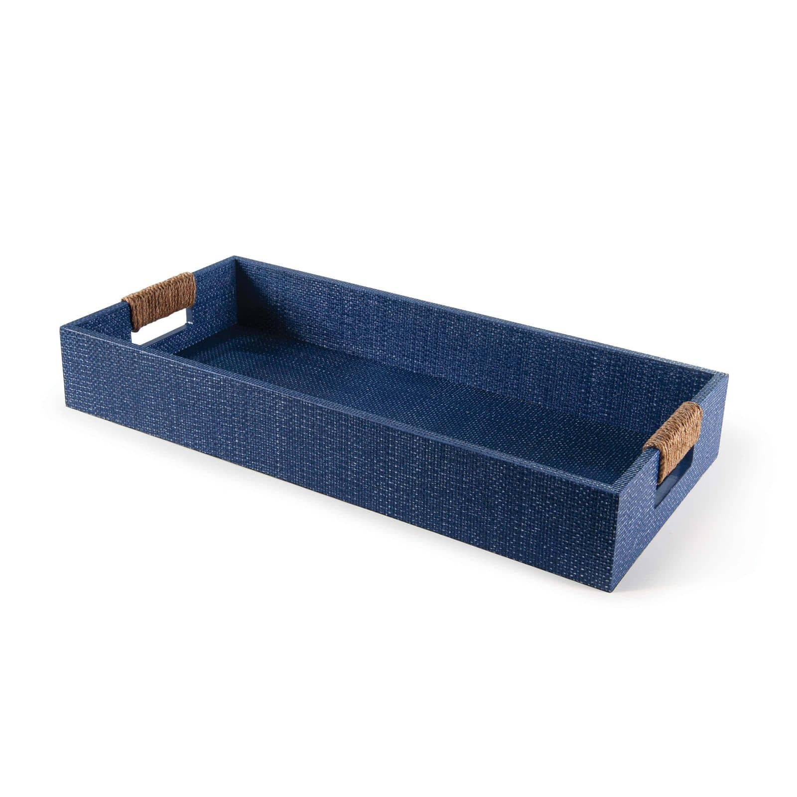 Logia Rectangle Tray Small Indigo | Regina Andrew