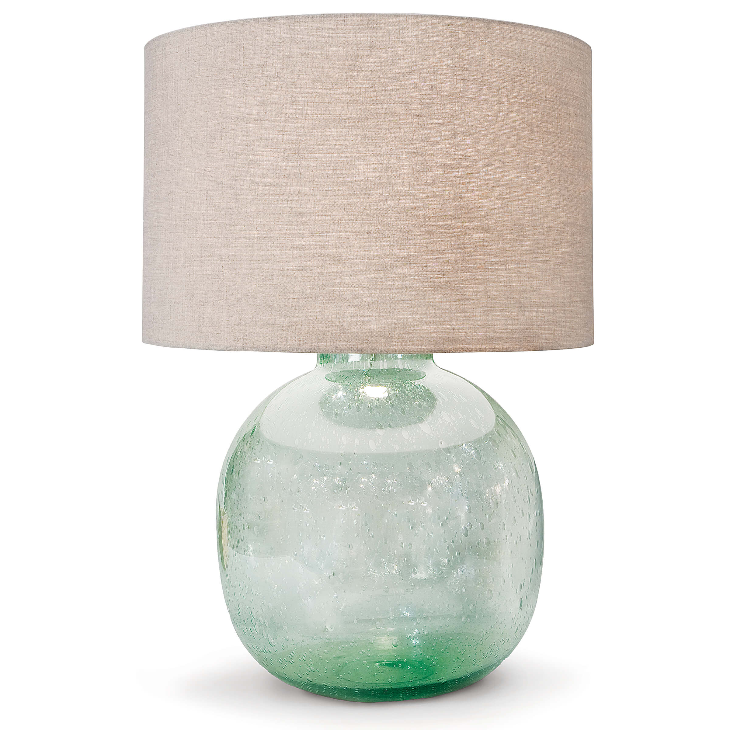 Seeded Recycled Glass Table Lamp | Regina Andrew