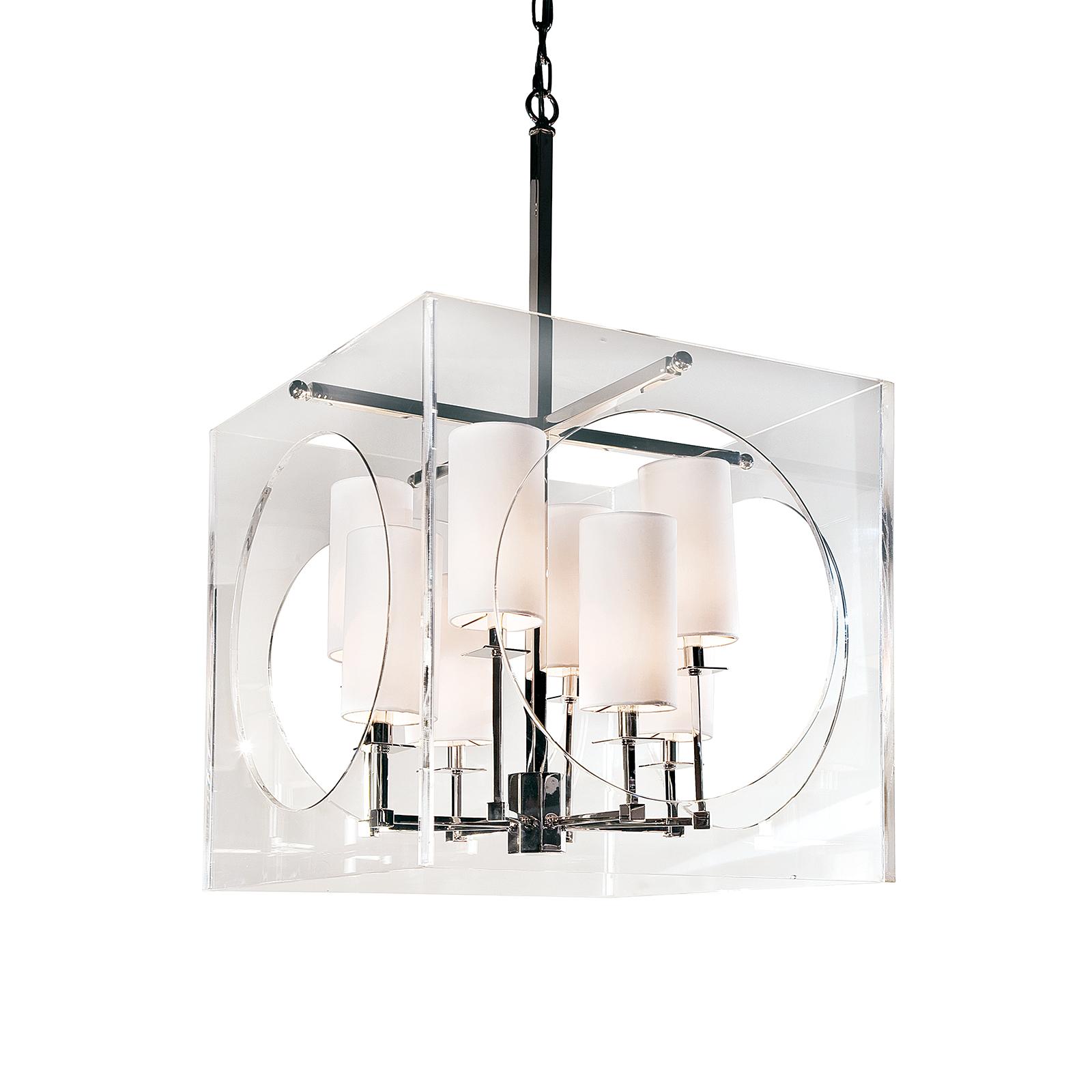 Acrylic Cube Chandelier | Regina Andrew