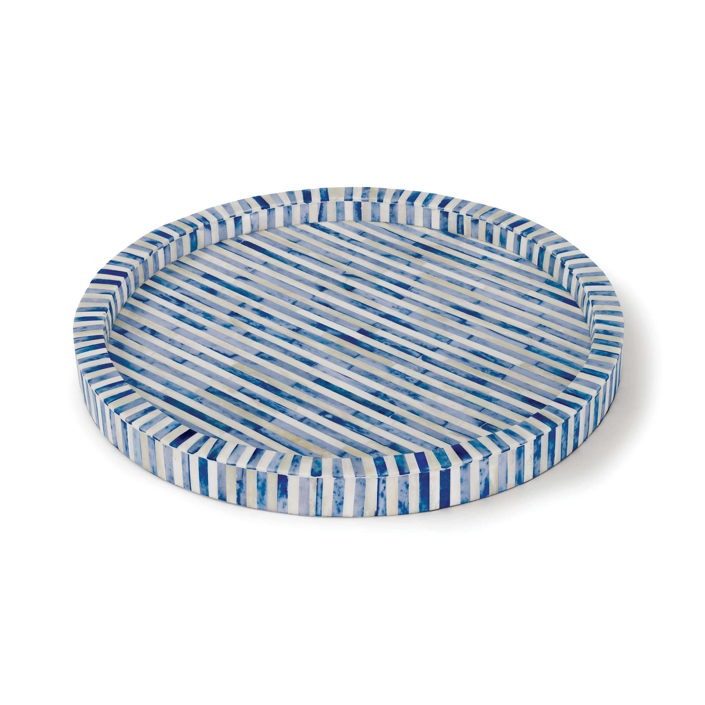 Bone and Indigo Tray Round | Regina Andrew