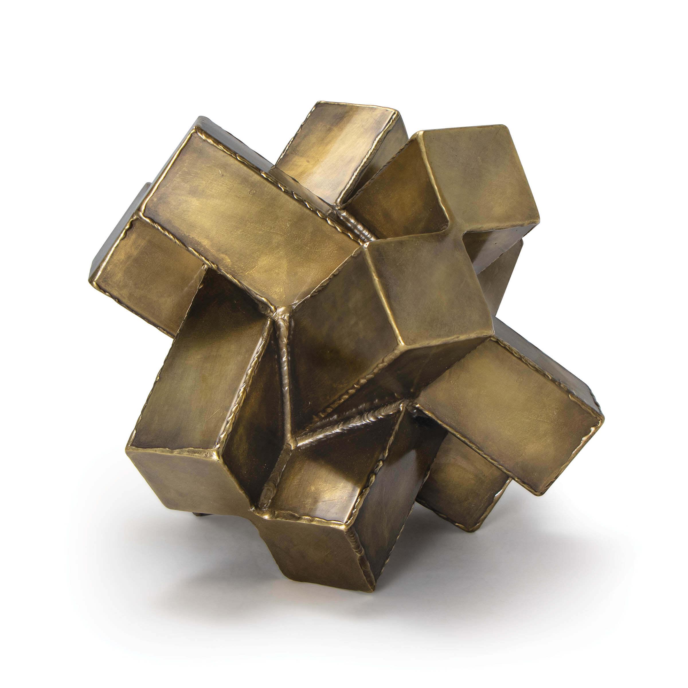 Abstract Sculpture Brass | Regina Andrew