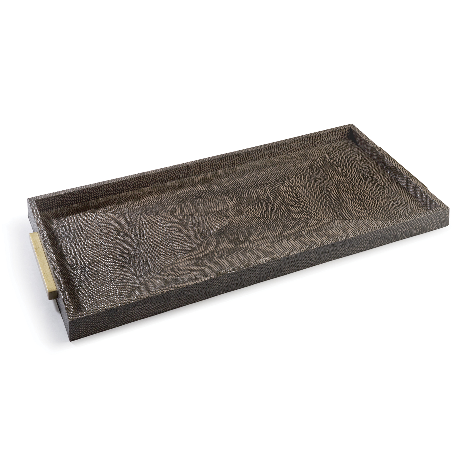 Rectangle Shagreen Boutique Tray Vintage Brown Snake | Regina Andrew