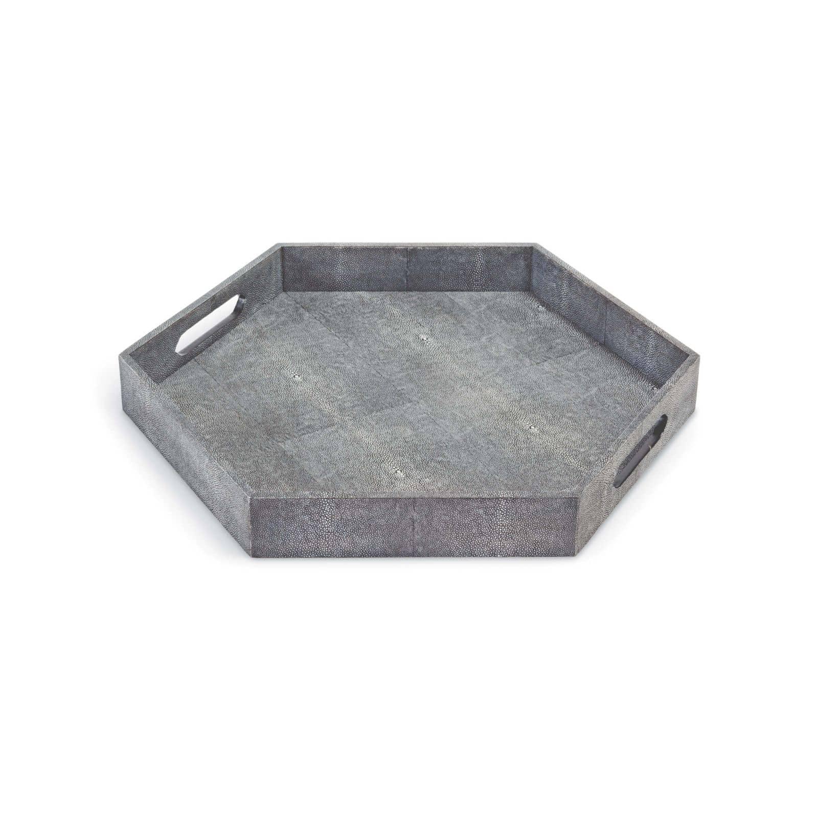 Shagreen Hex Tray Charcoal | Regina Andrew