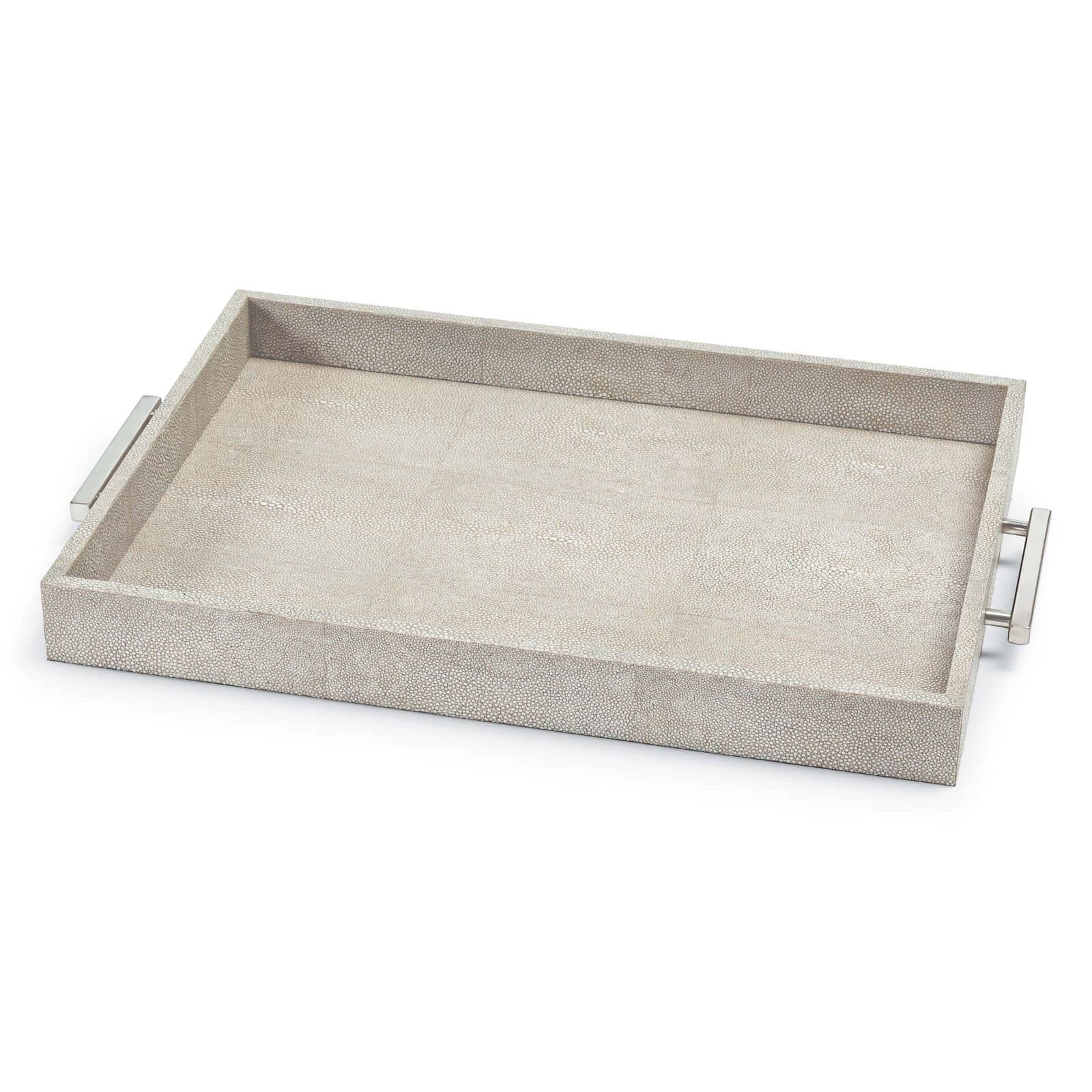 Shagreen Rectangle Tray Ivory Grey | Regina Andrew