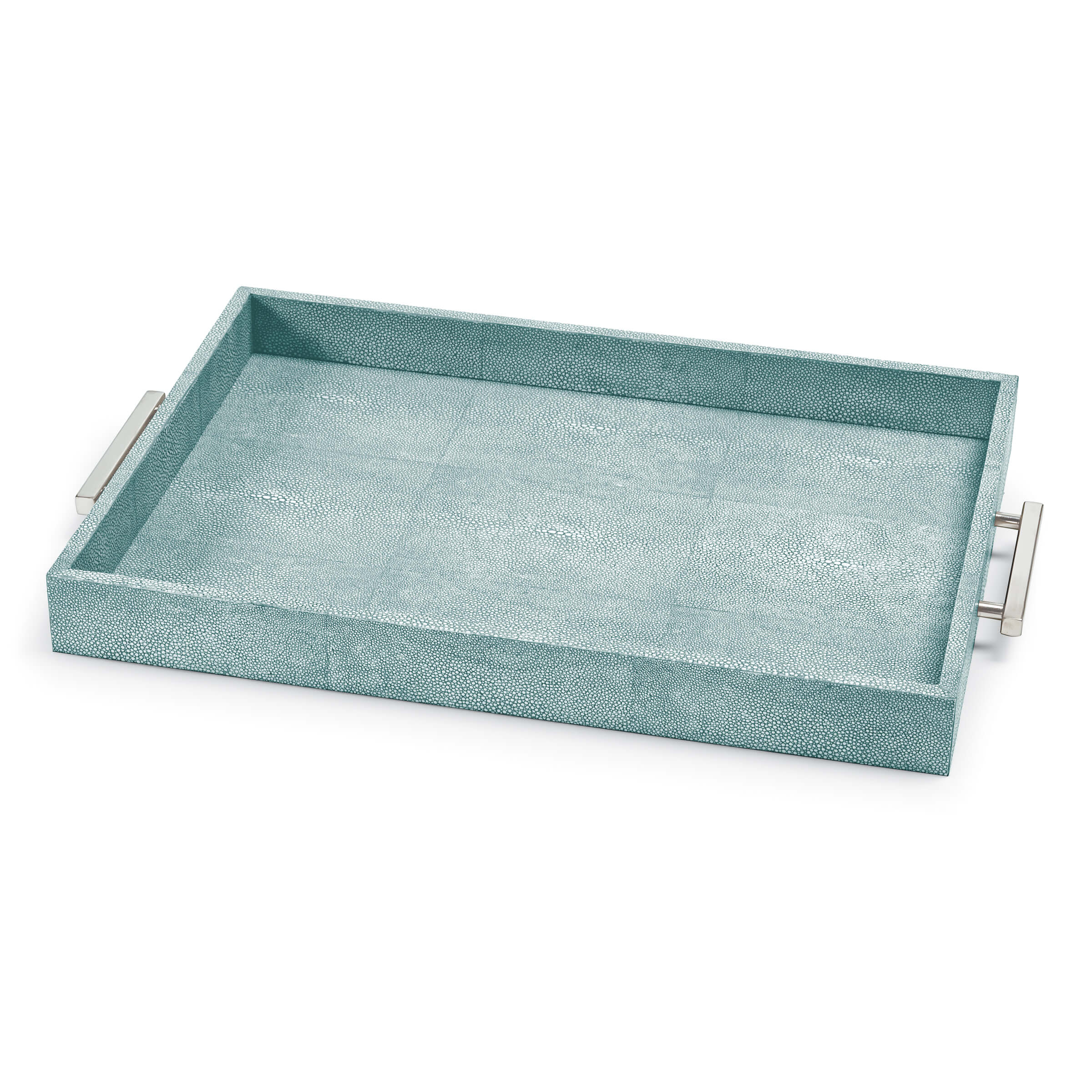 Shagreen Rectangle Tray Turquoise | Regina Andrew