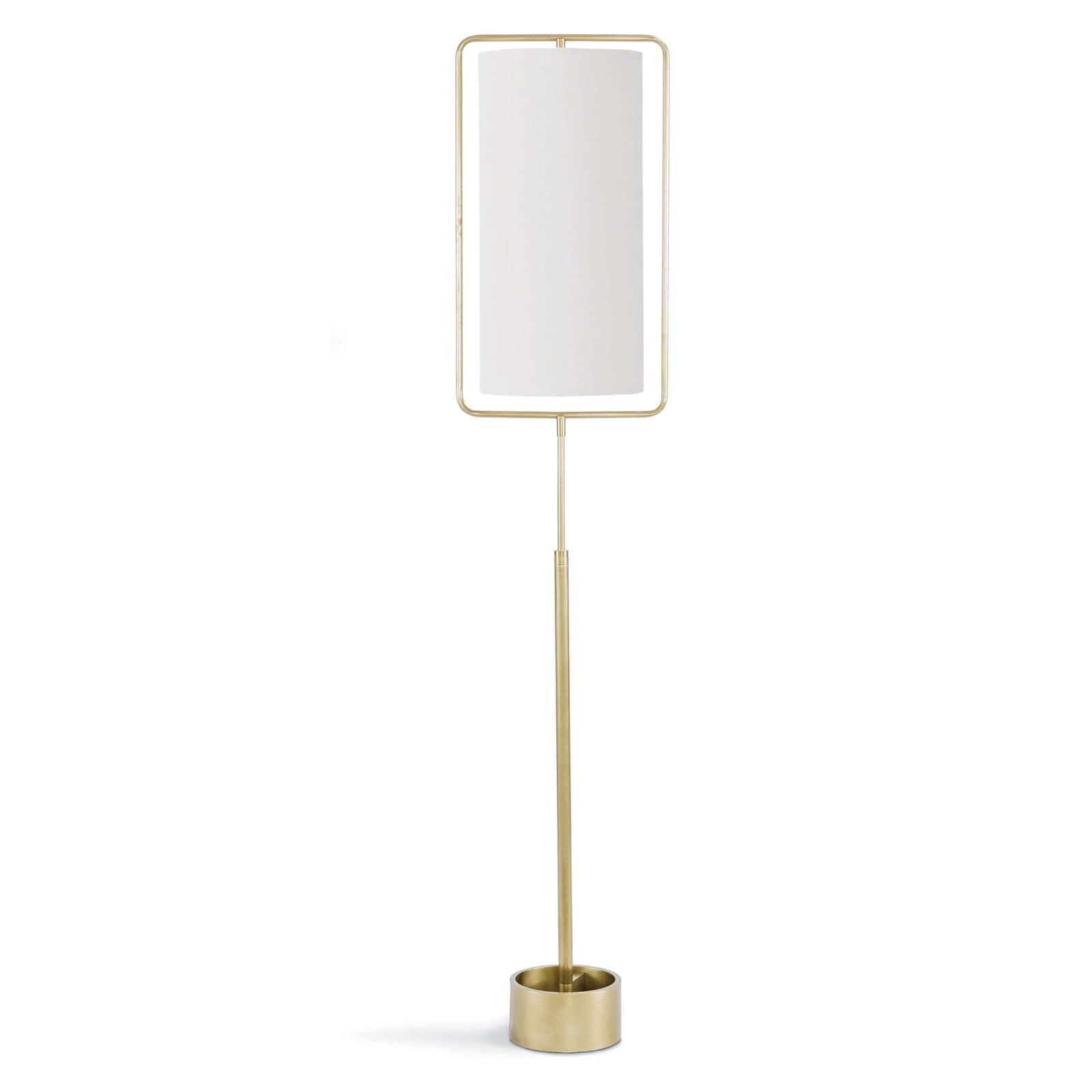 Geo Rectangle Floor Lamp Natural Brass | Regina Andrew