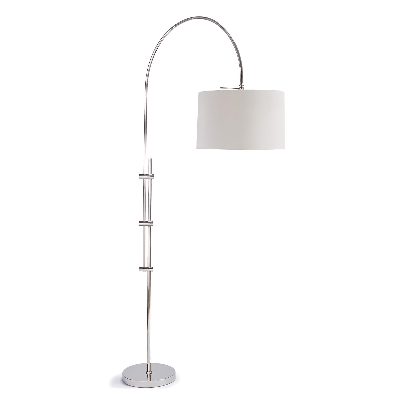 Arc Floor Lamp Fabric Shade Polished Nickel | Regina Andrew