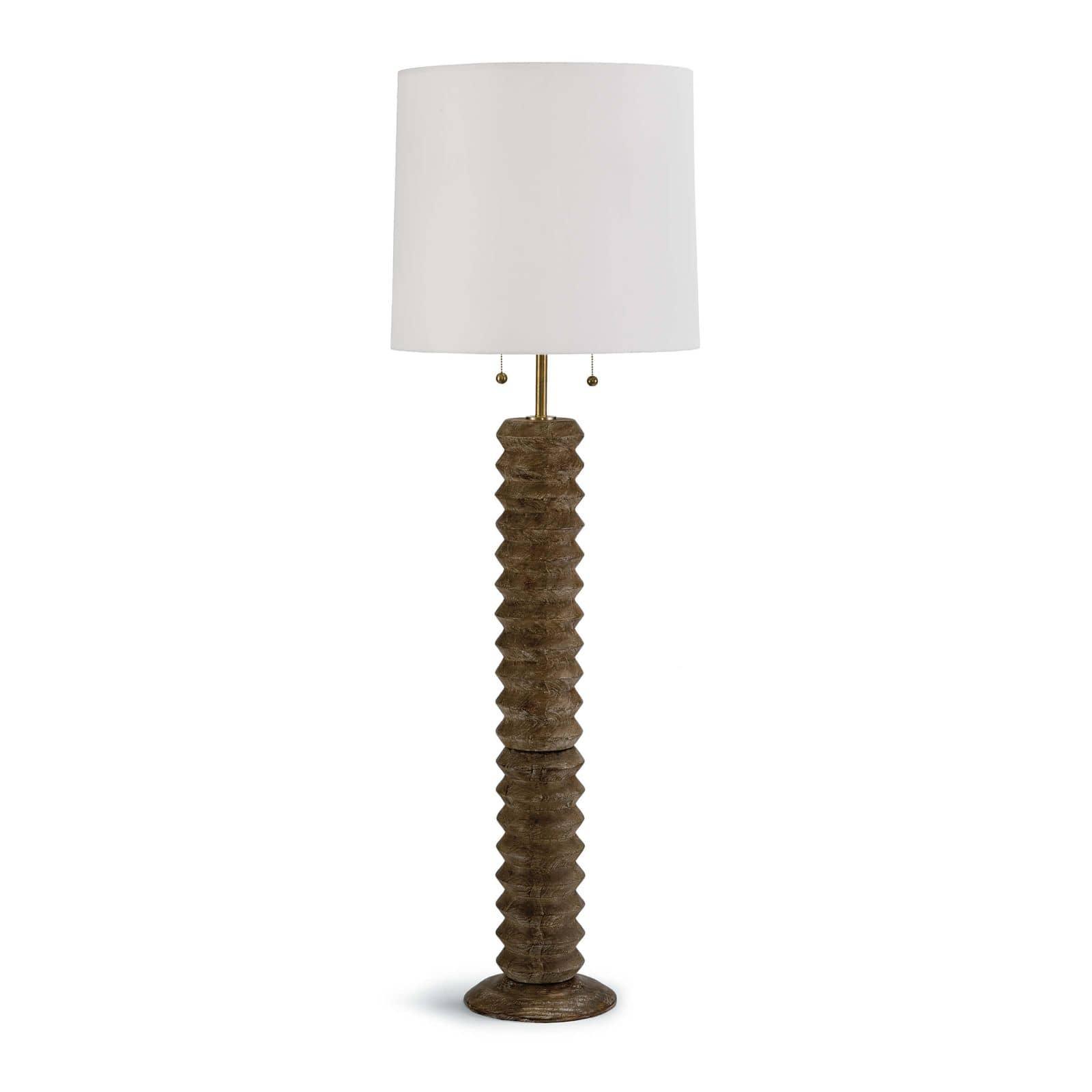Accordion Floor Lamp Natural | Regina Andrew