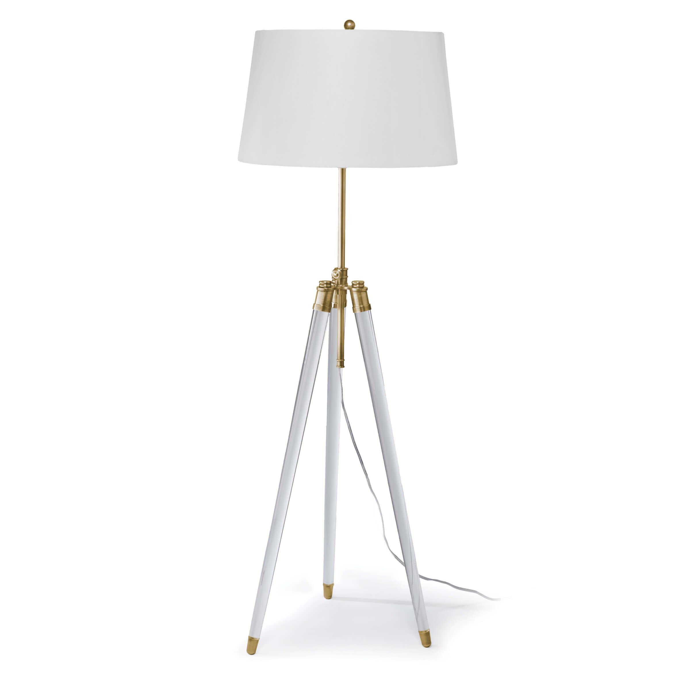 Brigitte Floor Lamp Natural Brass | Regina Andrew