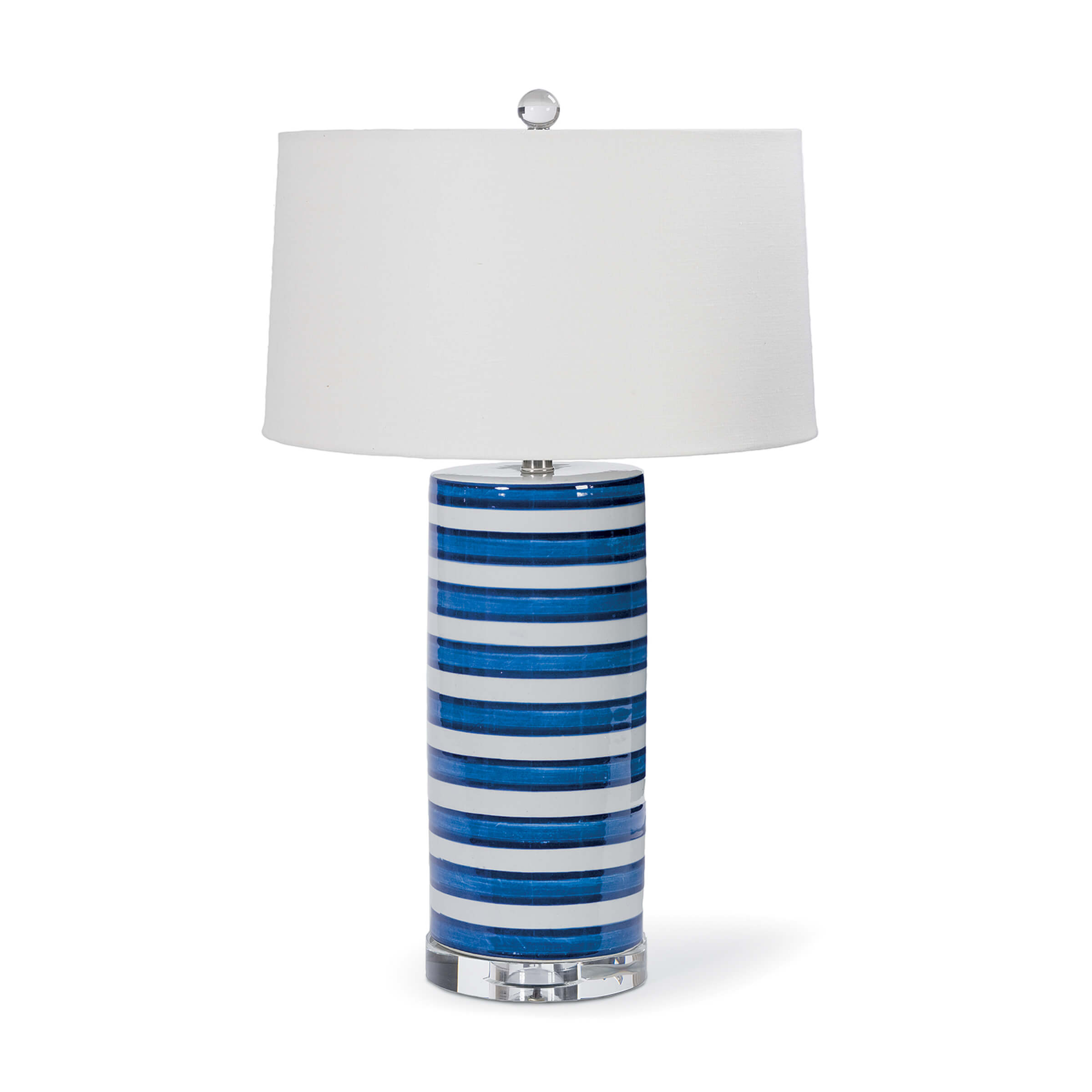 Striped Ceramic Column Table Lamp | Regina Andrew