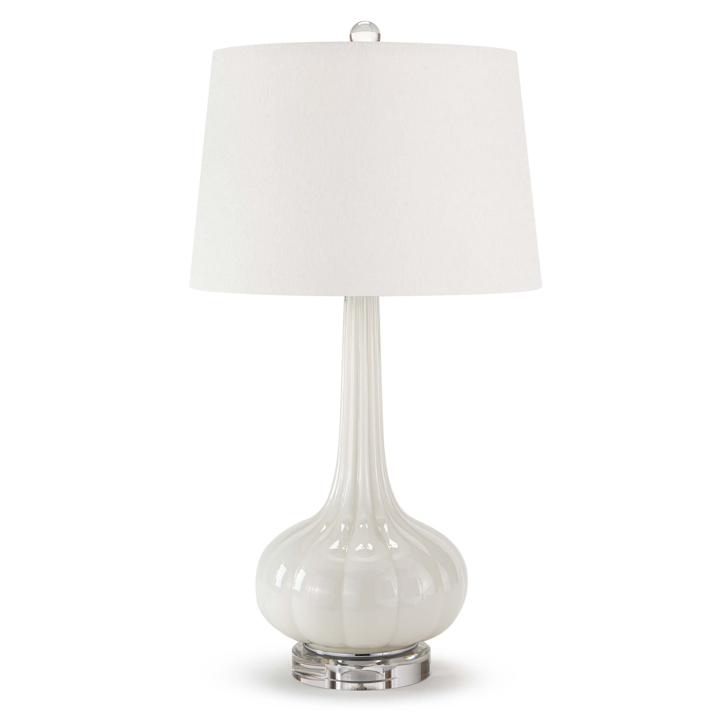 Milano Table Lamp Snow   Regina Andrew
