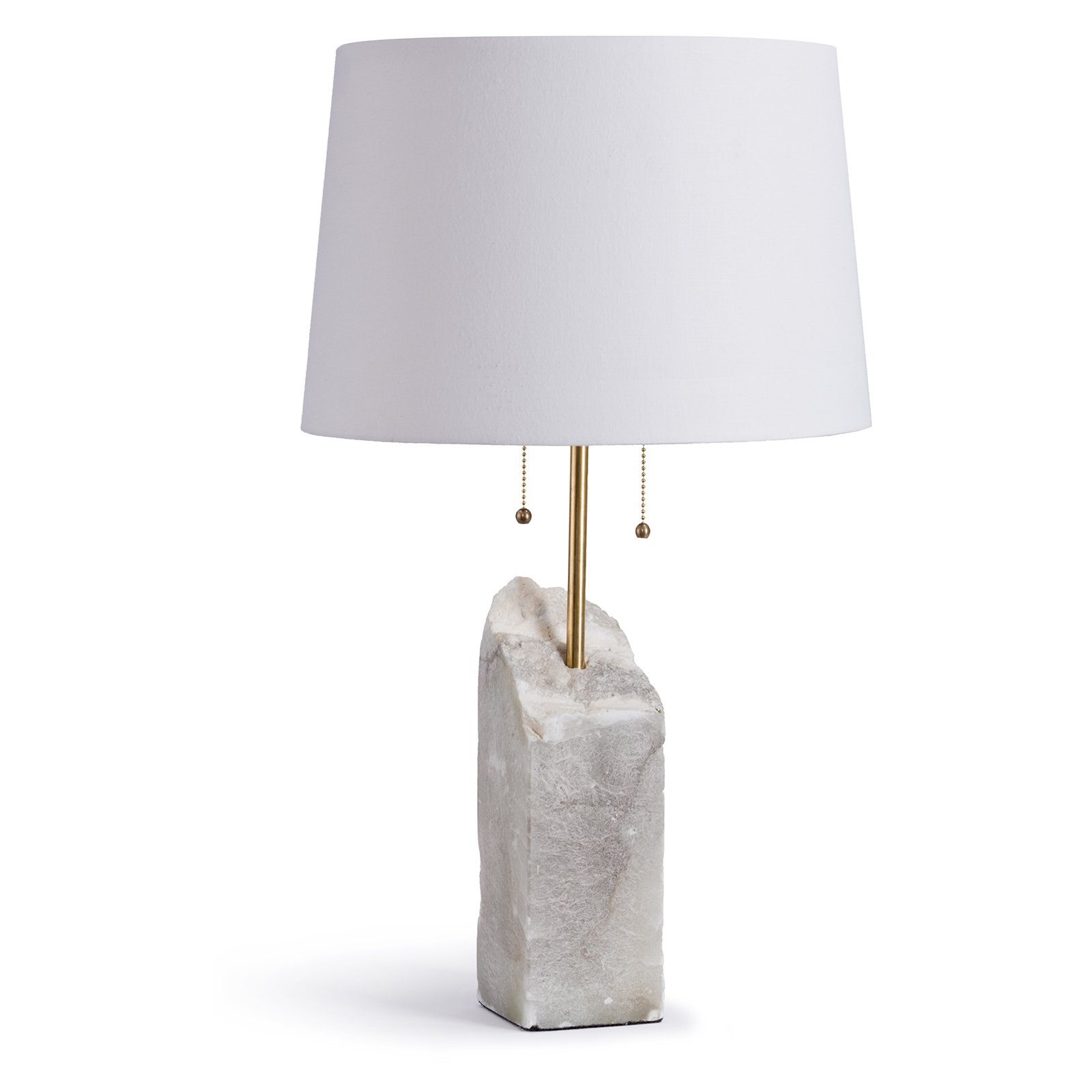 Square Raw Alabaster Table Lamp | Regina Andrew