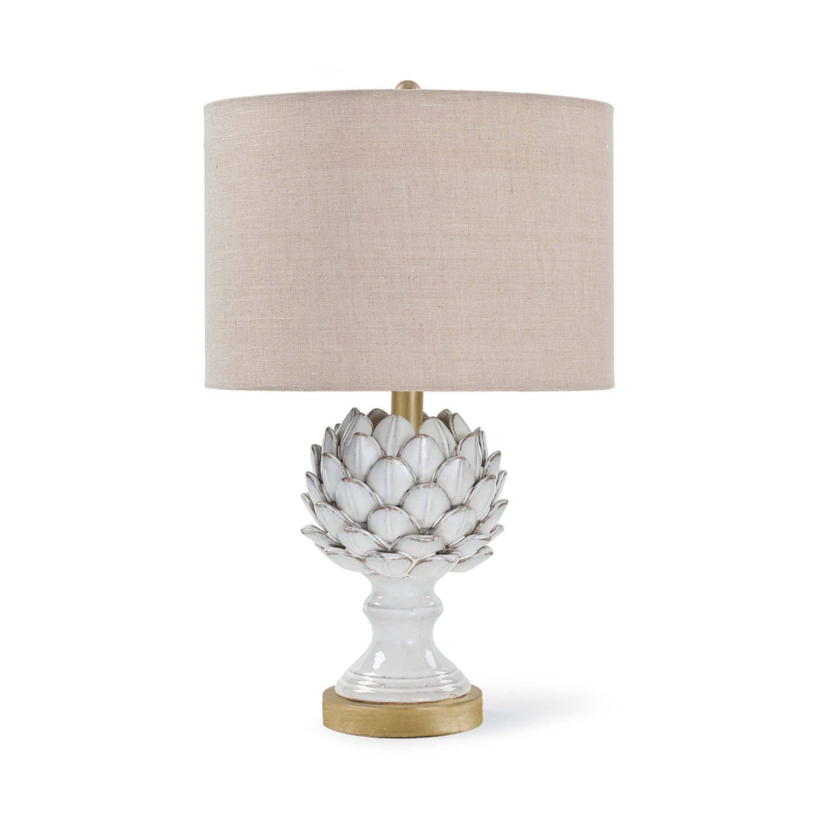 Leafy Artichoke Ceramic Table Lamp Off White | Regina Andrew