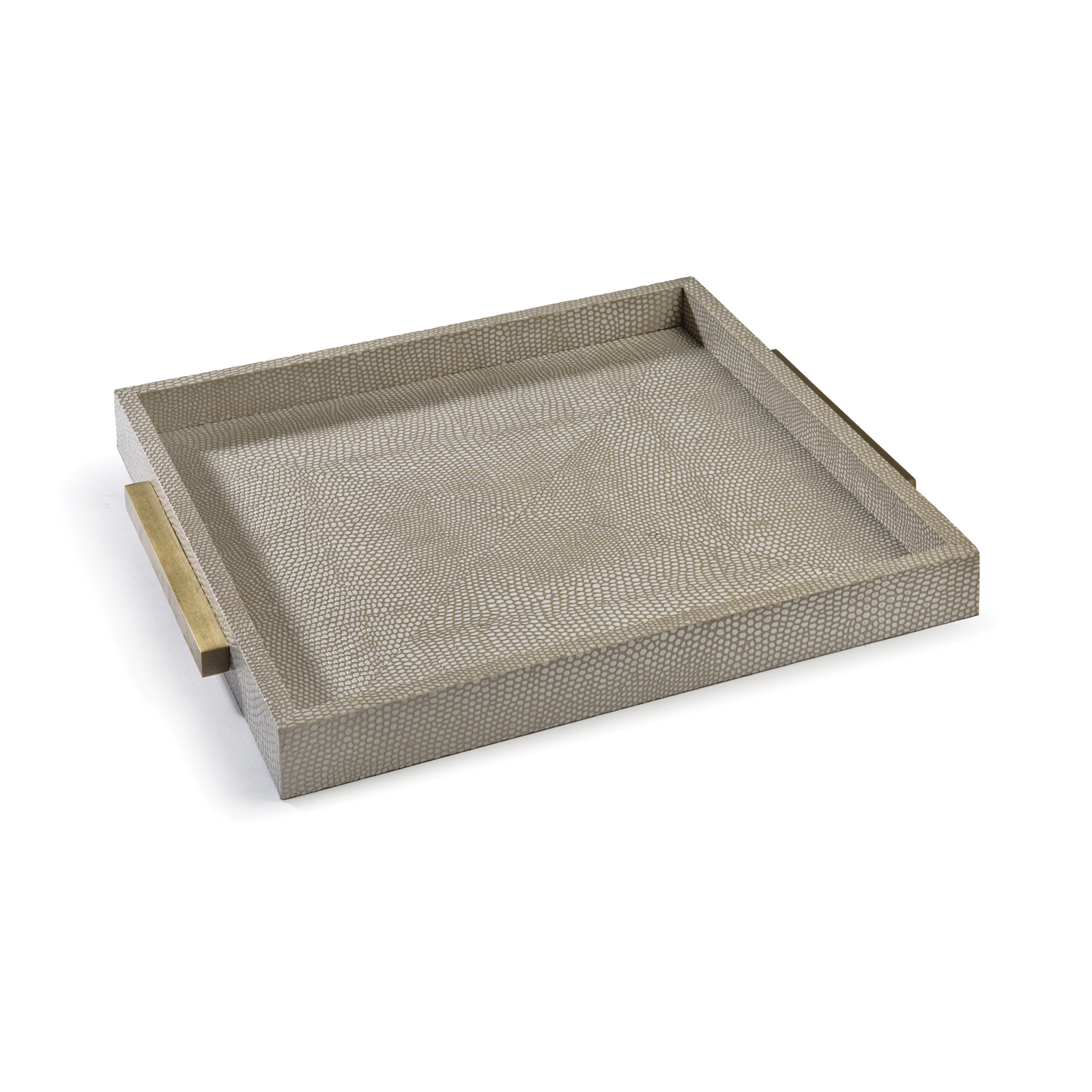 Square Shagreen Boutique Tray Ivory Grey Python | Regina Andrew