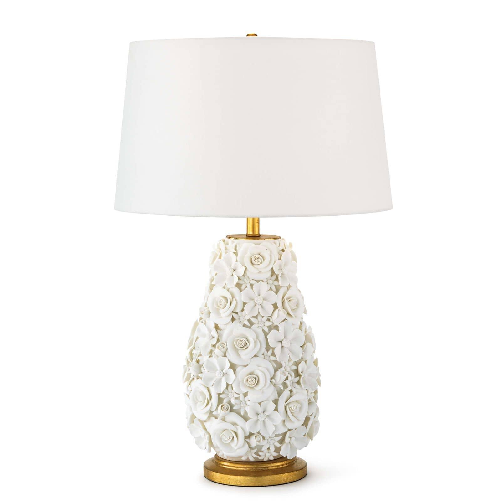 Alice Porcelain Flower Table Lamp | Regina Andrew