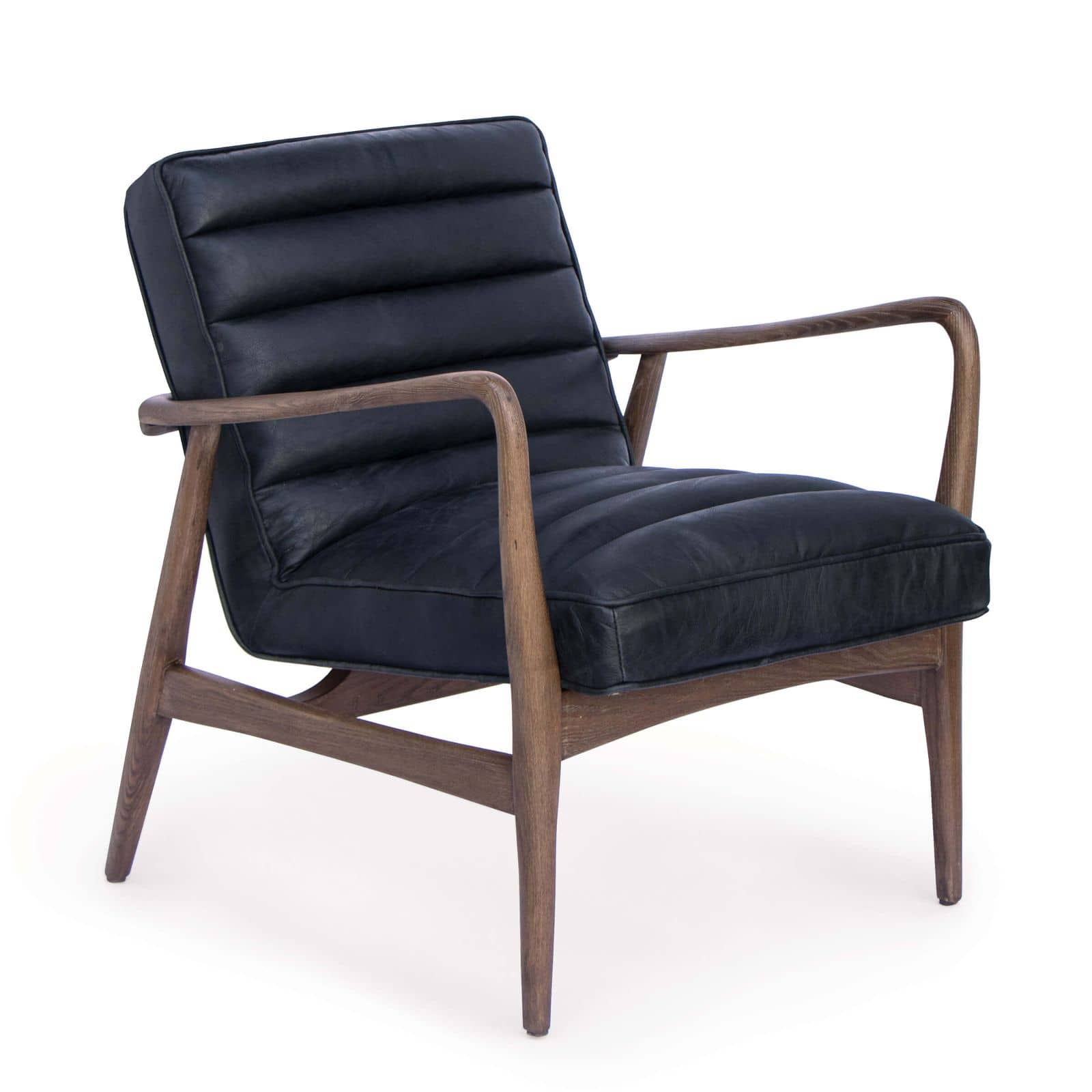 Piper Chair Antique Black Leather | Regina Andrew