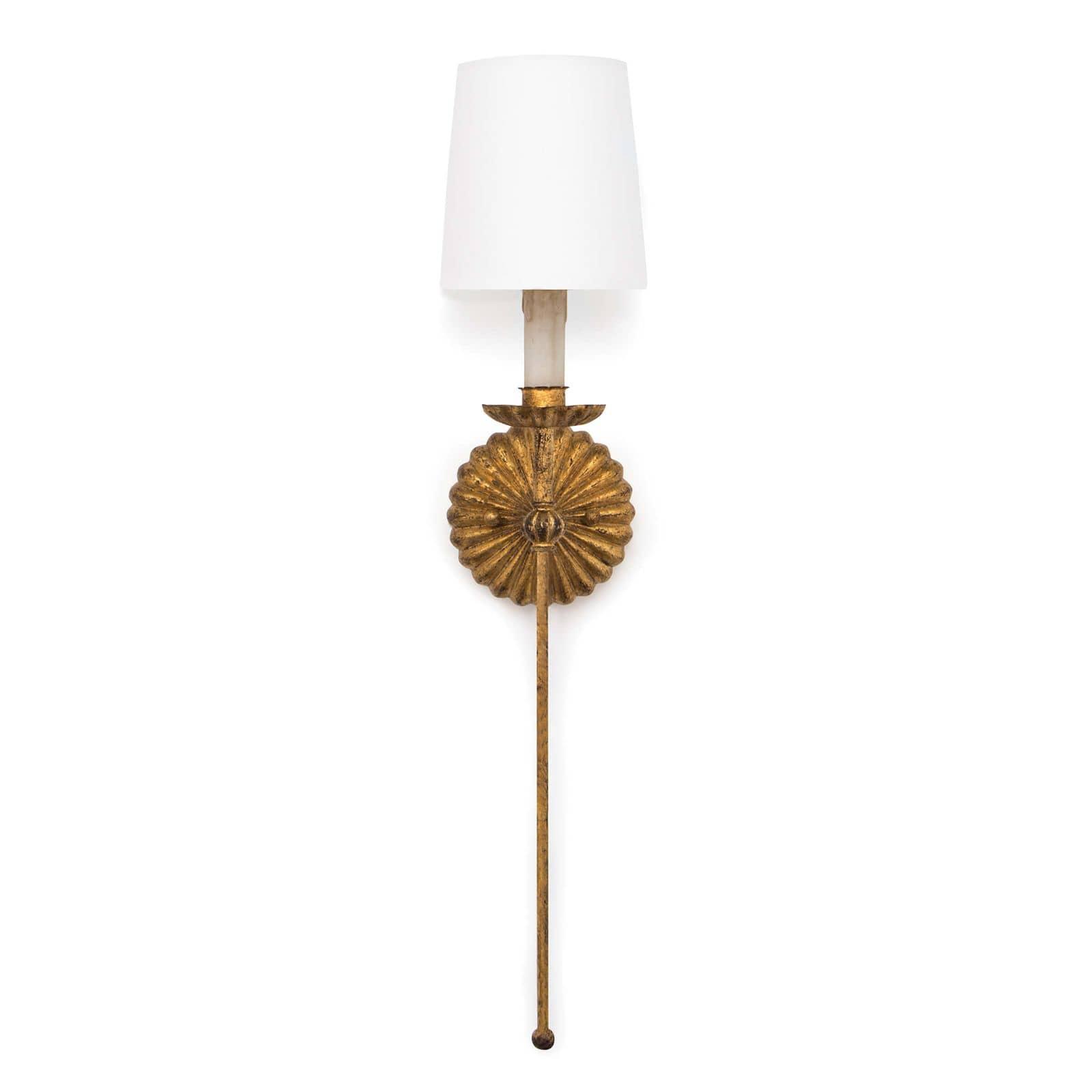 Clove Sconce Single Antique Gold Leaf | Regina Andrew