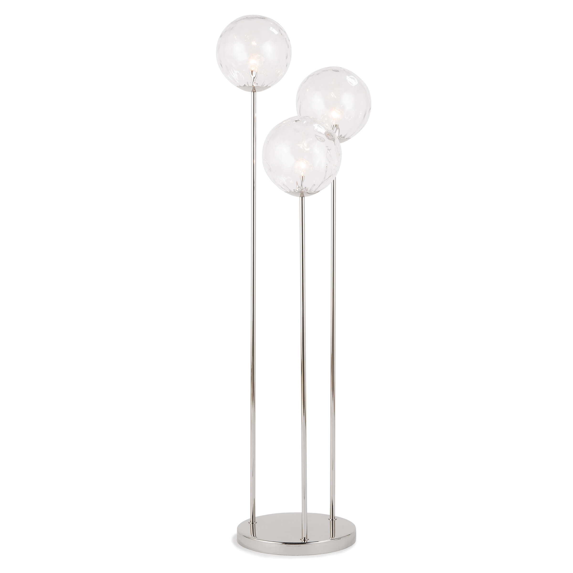 Rio Triple Floor Lamp Polished Nickel | Regina Andrew
