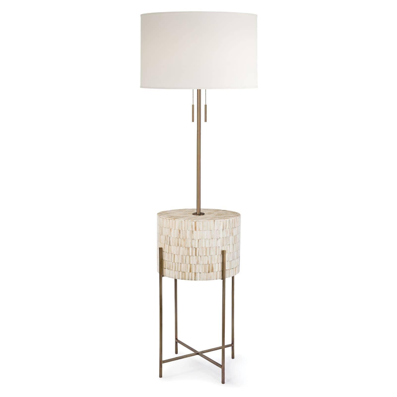 Resse Floor Lamp Natural Brass   Regina Andrew