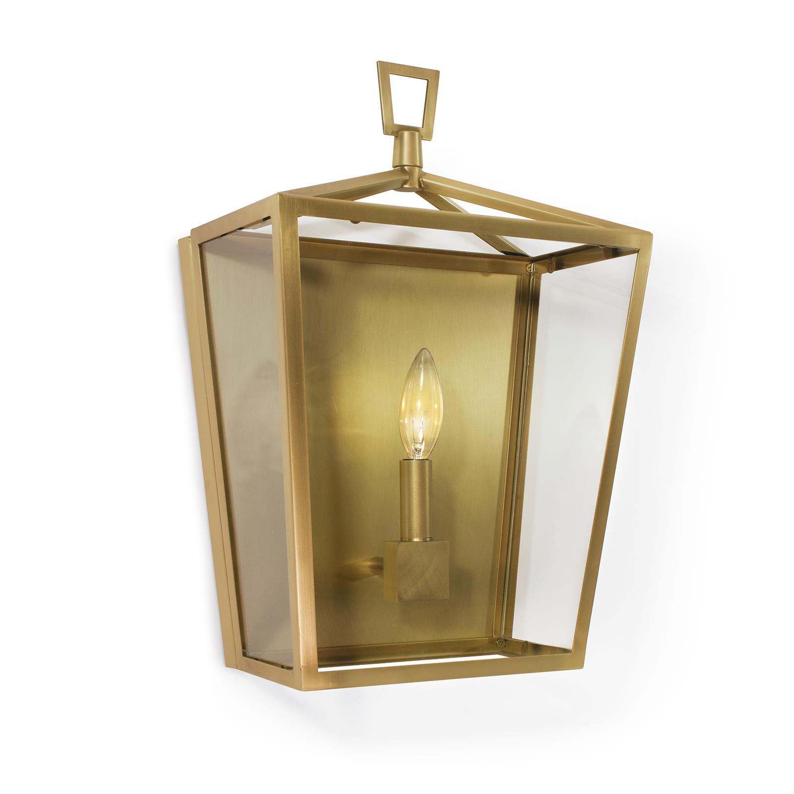 Camden Lantern Sconce Natural Brass | Regina Andrew