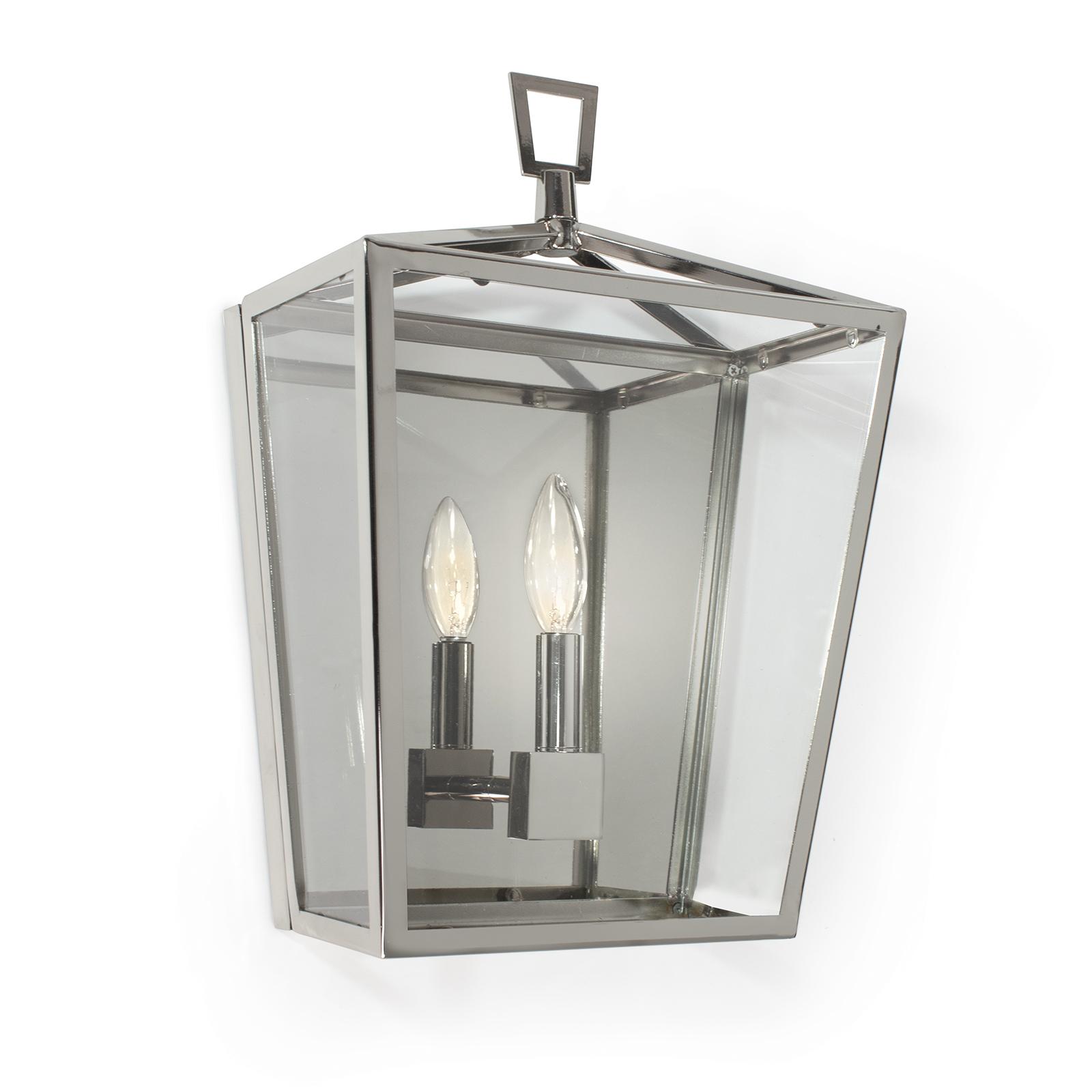 Camden Lantern Sconce Polished Nickel | Regina Andrew