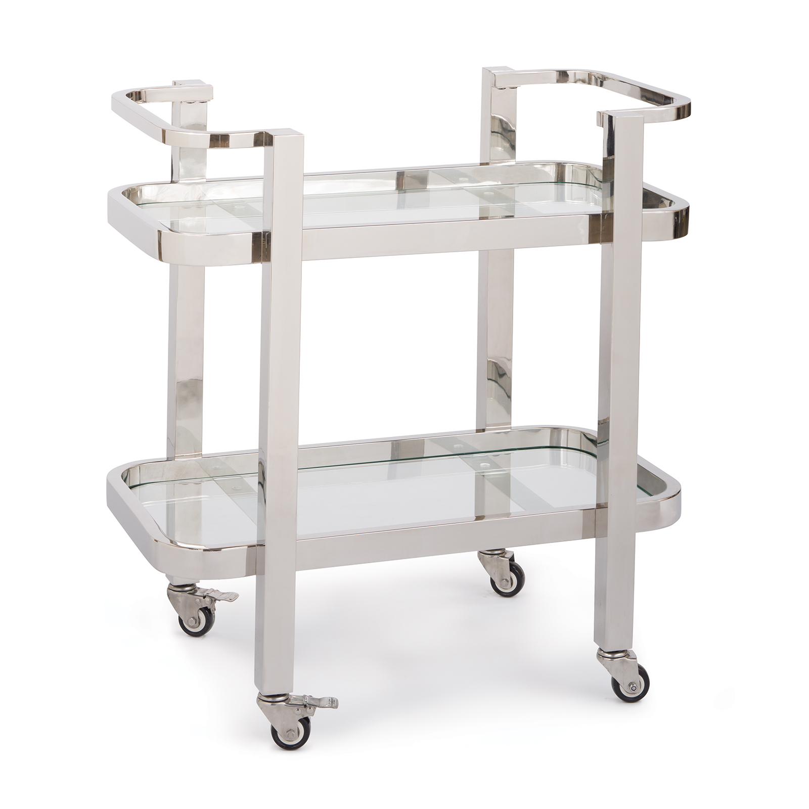 Carter Bar Cart Small Polished Stainless Steel | Regina Andrew