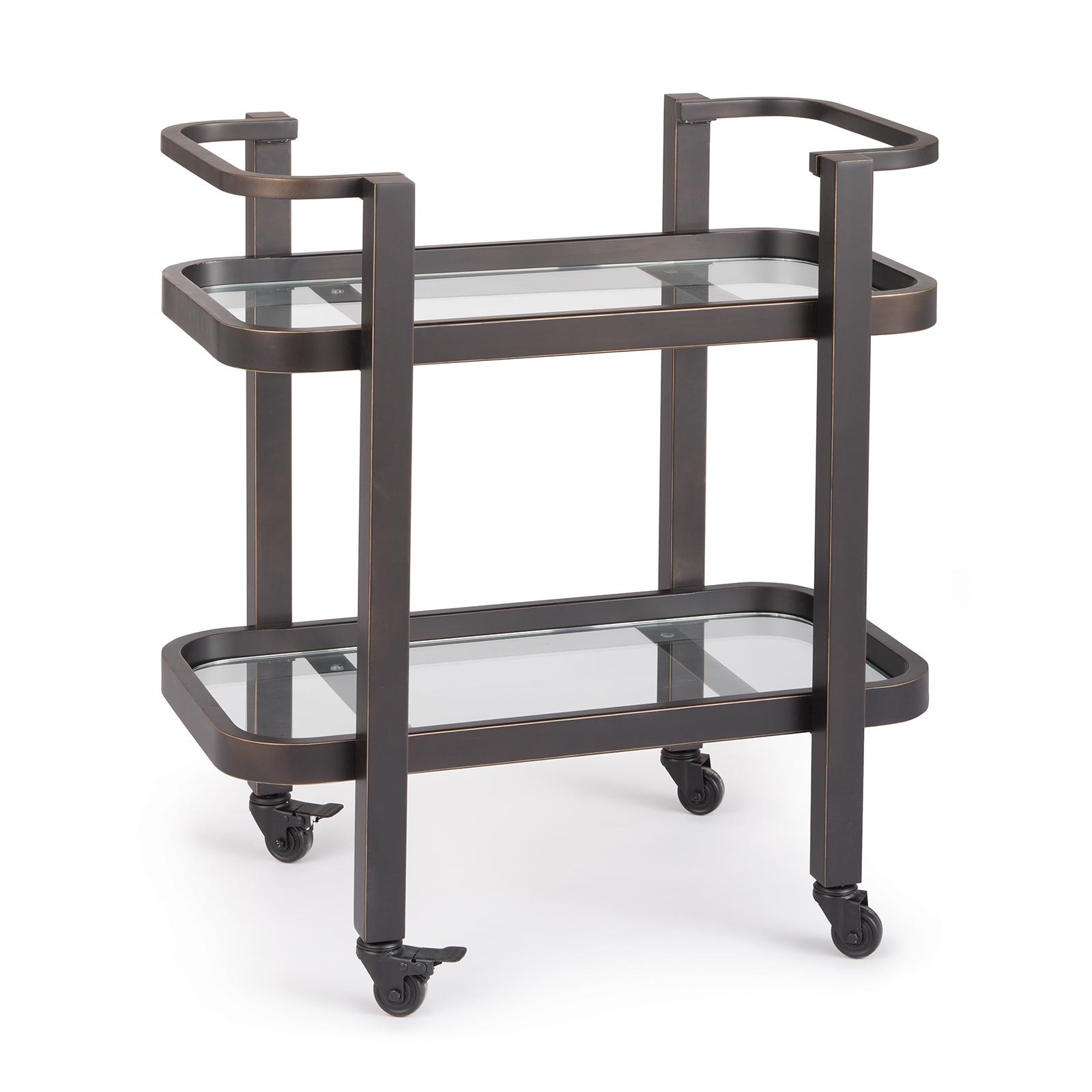 Carter Bar Cart Small Oil Rubbed Bronze | Regina Andrew