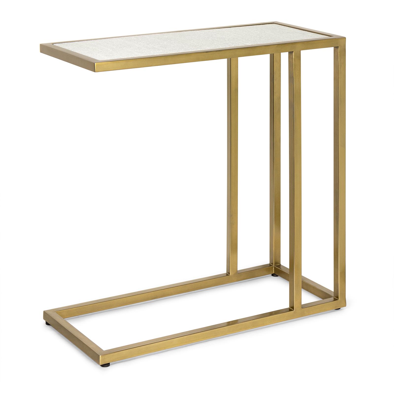 Echelon Sofa Hugger Table Natural Brass | Regina Andrew