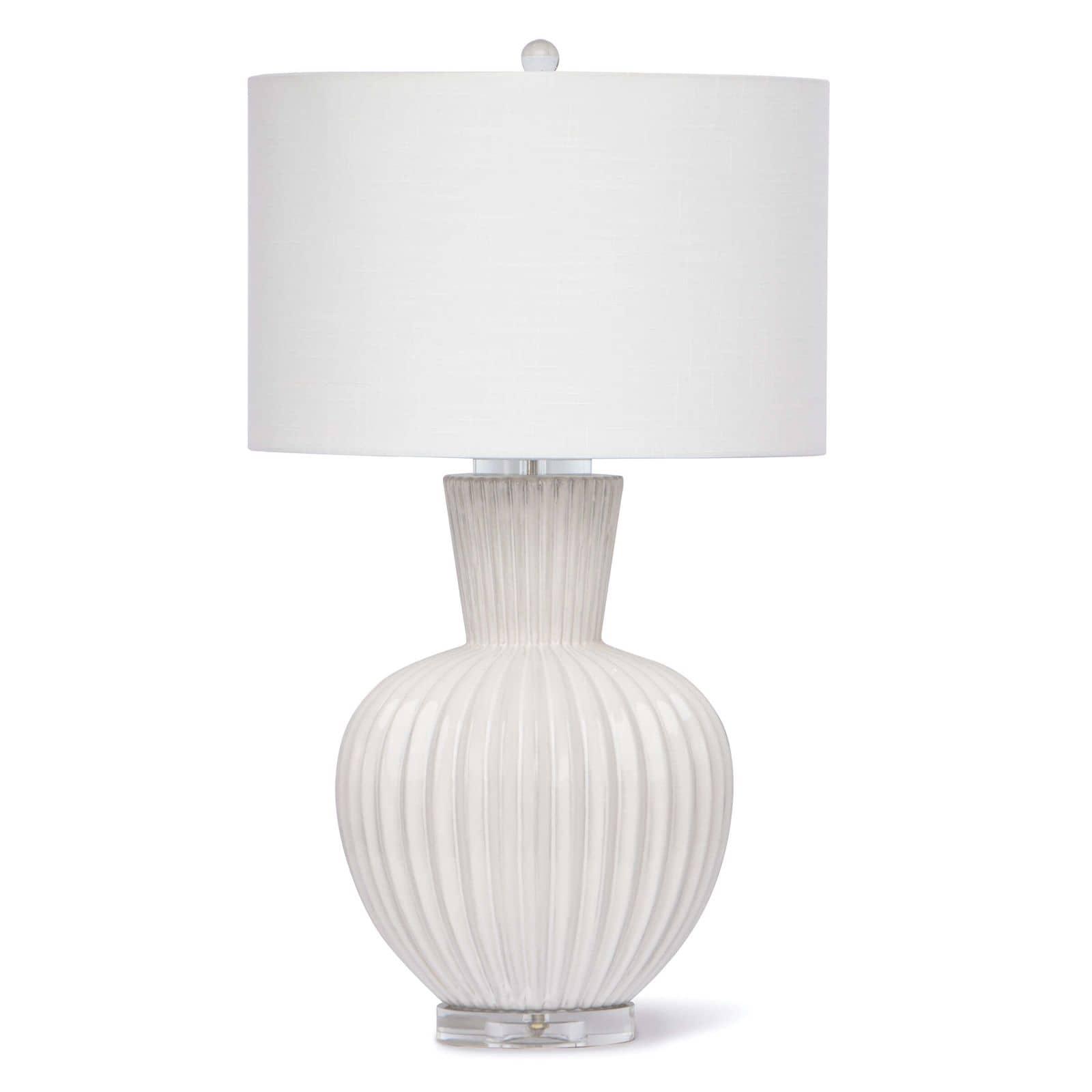 Madrid Ceramic Table Lamp White | Regina Andrew