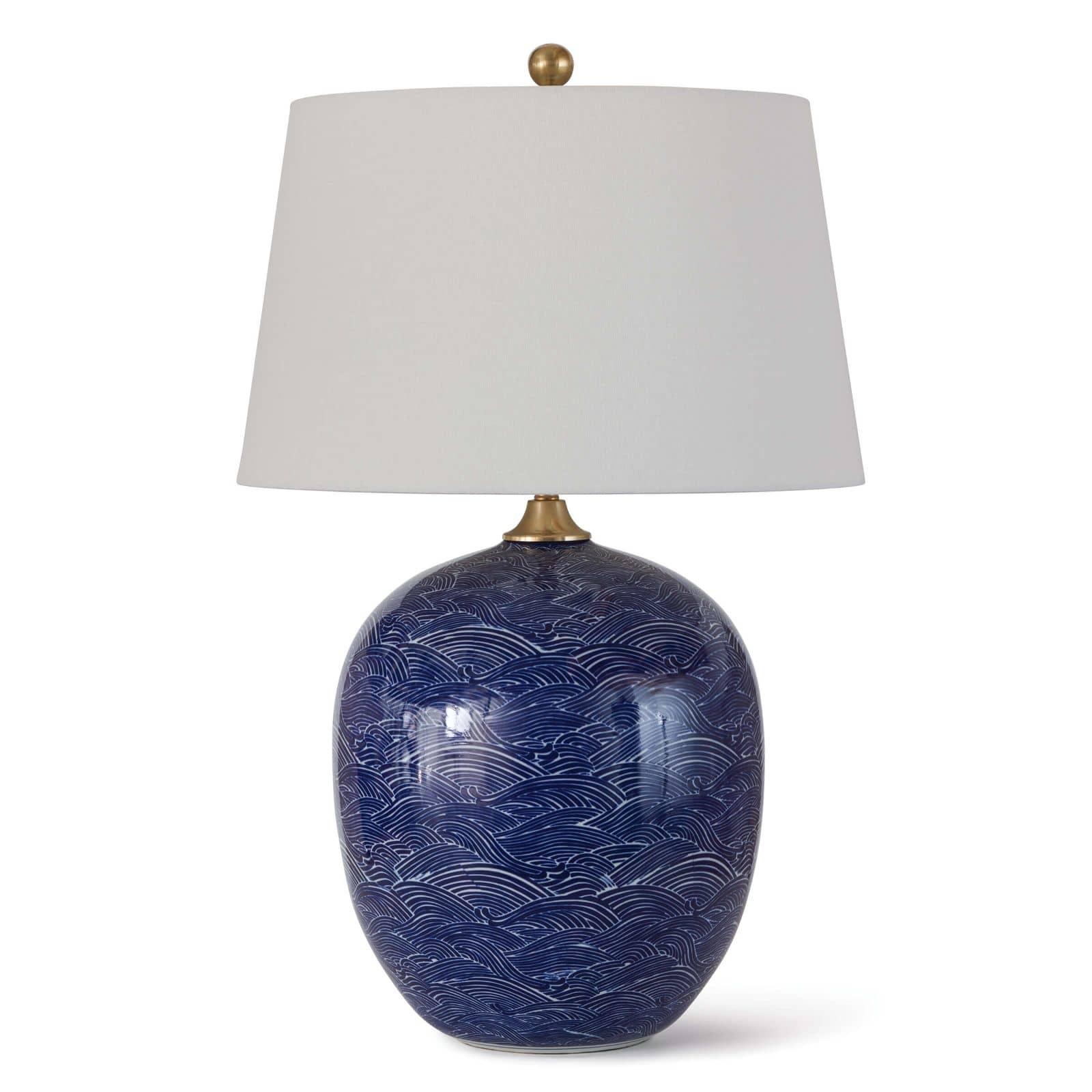 Harbor Ceramic Table Lamp Blue | Regina Andrew