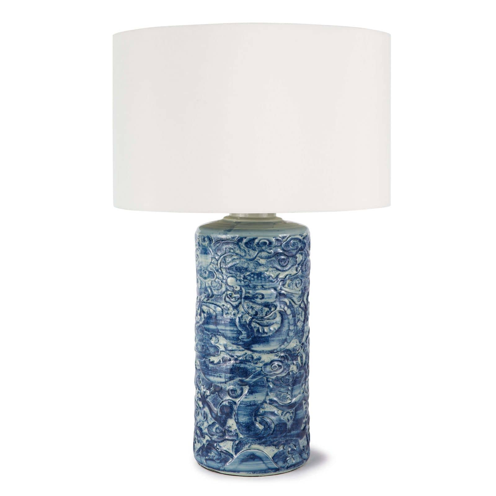 Zodiac Ceramic Table Lamp Blue | Regina Andrew