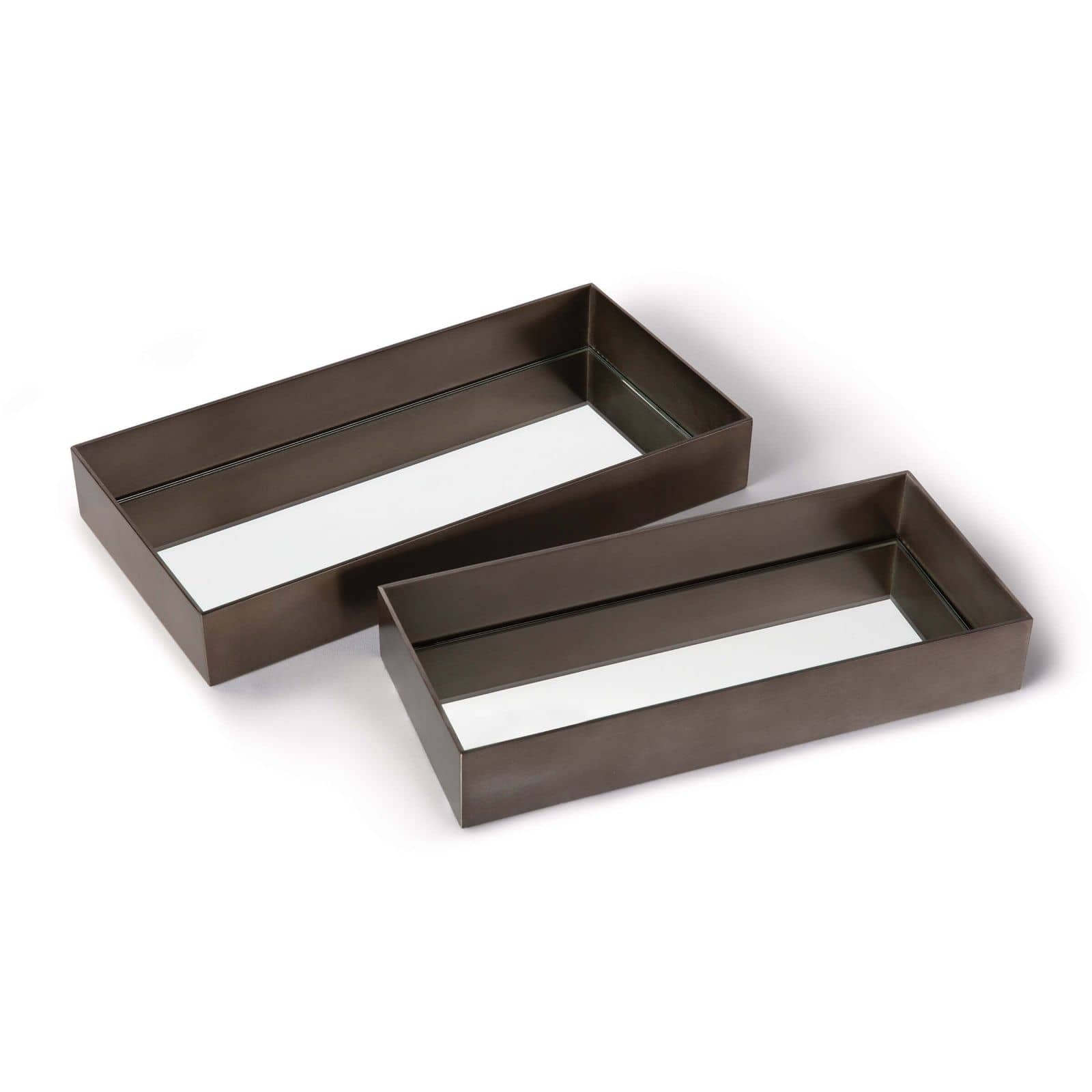 Rectangle Metal Tray Set Steel | Regina Andrew
