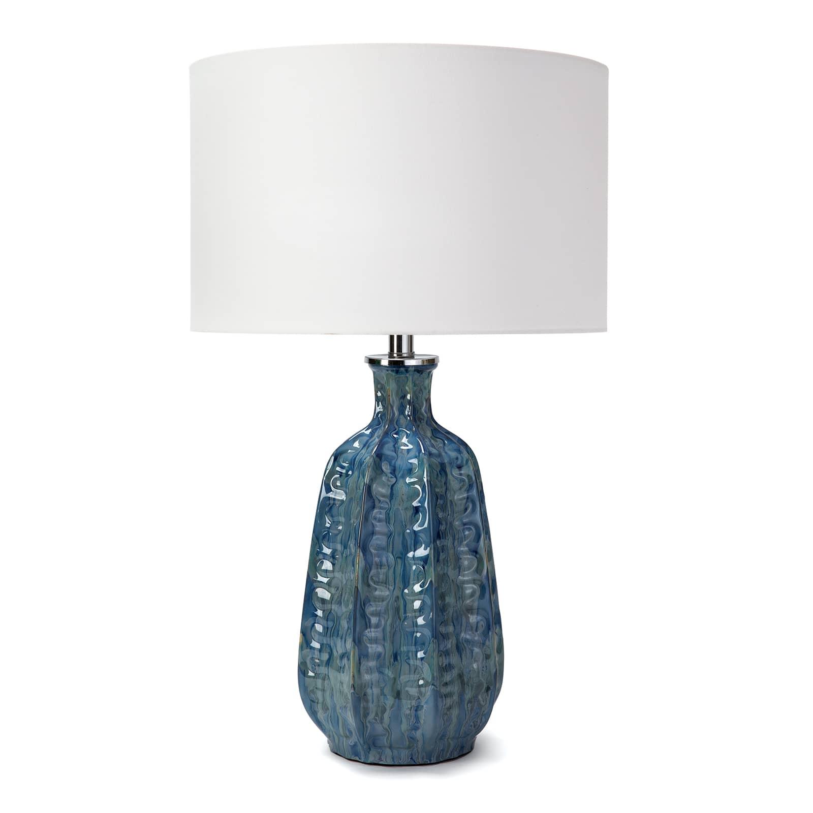 Antigua Ceramic Table Lamp Blue | Regina Andrew