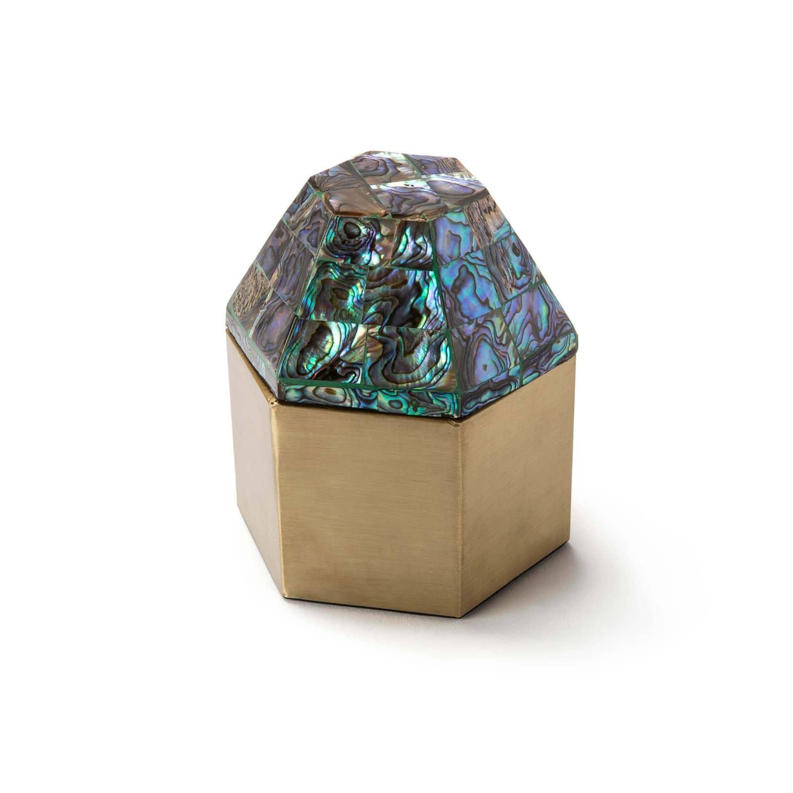 Alexis Hexagon Box Abalone | Regina Andrew